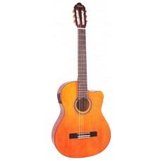 Гитара электроакустическая с вырезом Valencia VC106CEBK